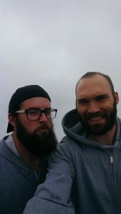 My view of the Blue Mountains...and beard.